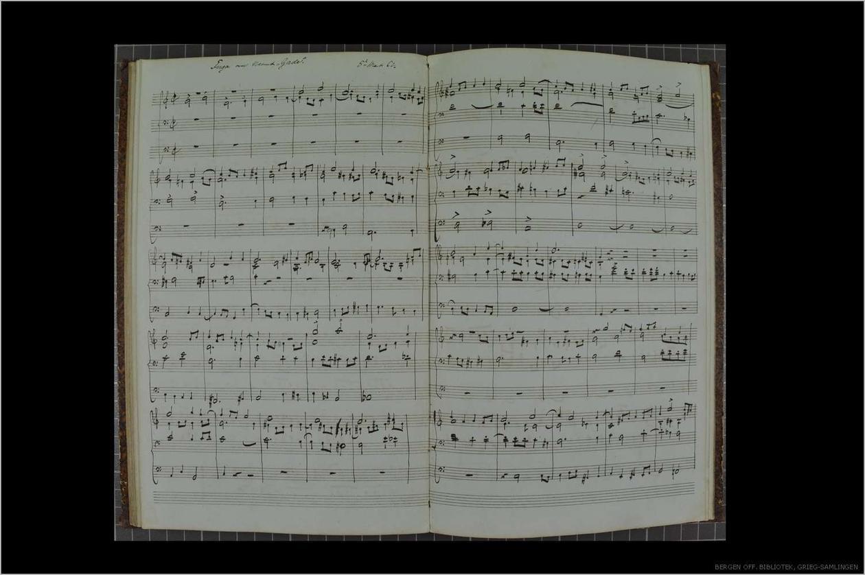 Grieg: Fuga om navnet Gade
