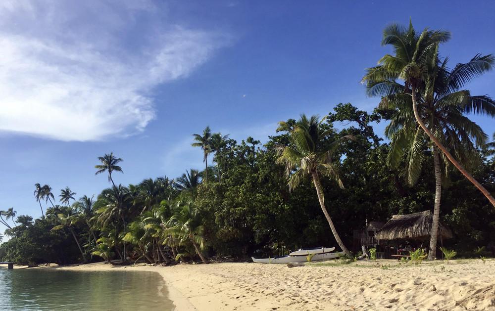 Strandliv på Fiji