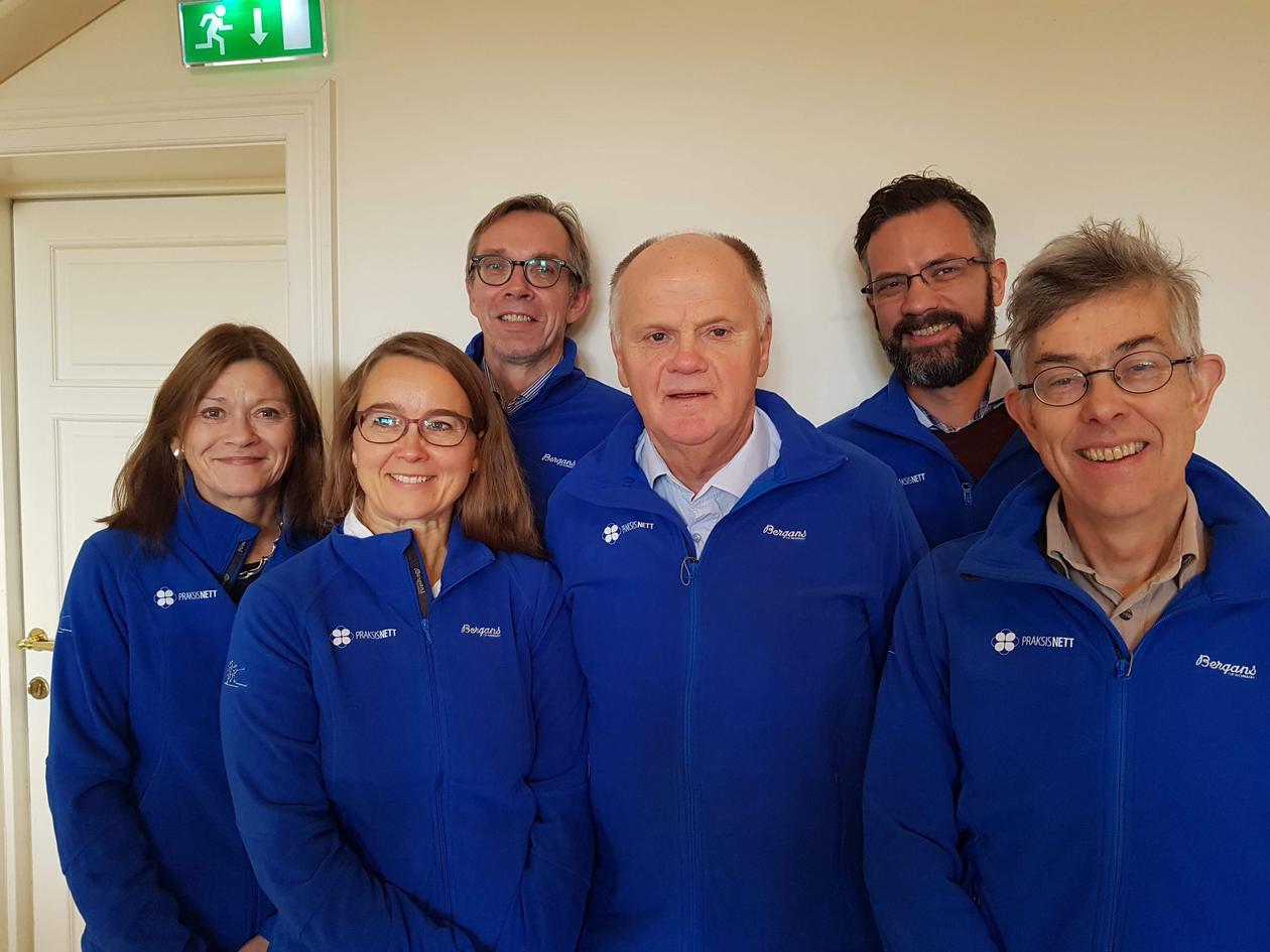 Picture shows members of PraksisNett Steering Committee