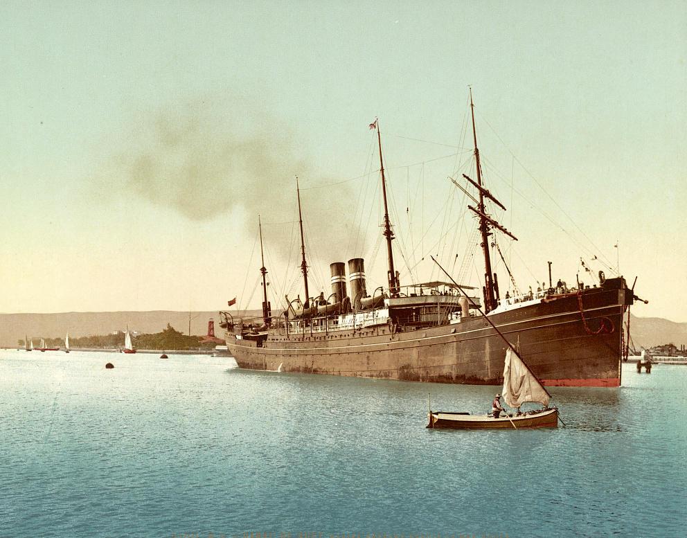 Båt på Suezkanalen