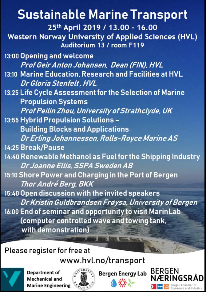 Flyer: Sustainable Marine Transport