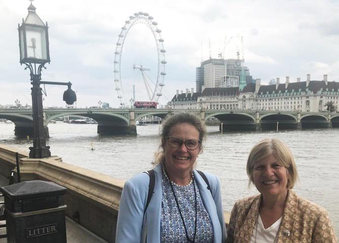 Svanes and British MP Sally Keeble
