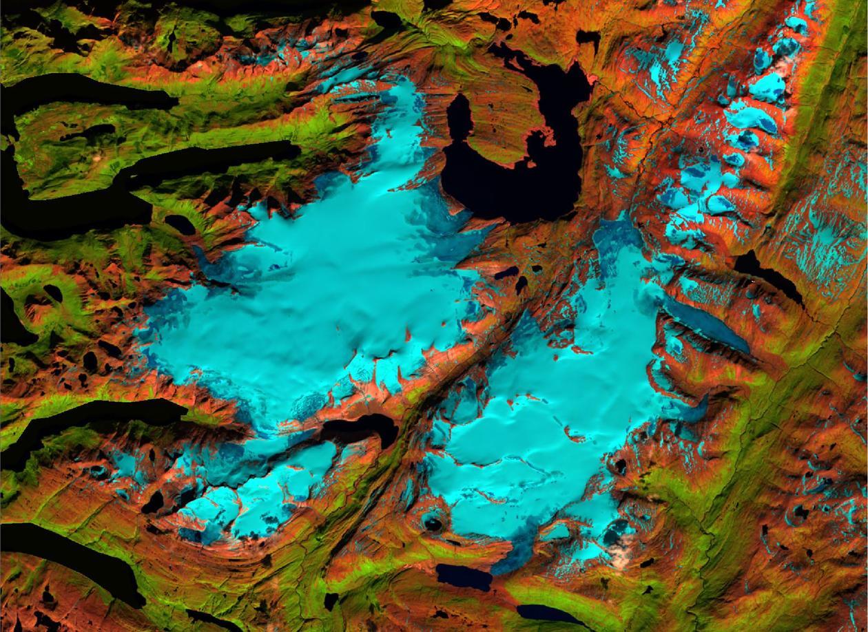 Svartisen Landsat
