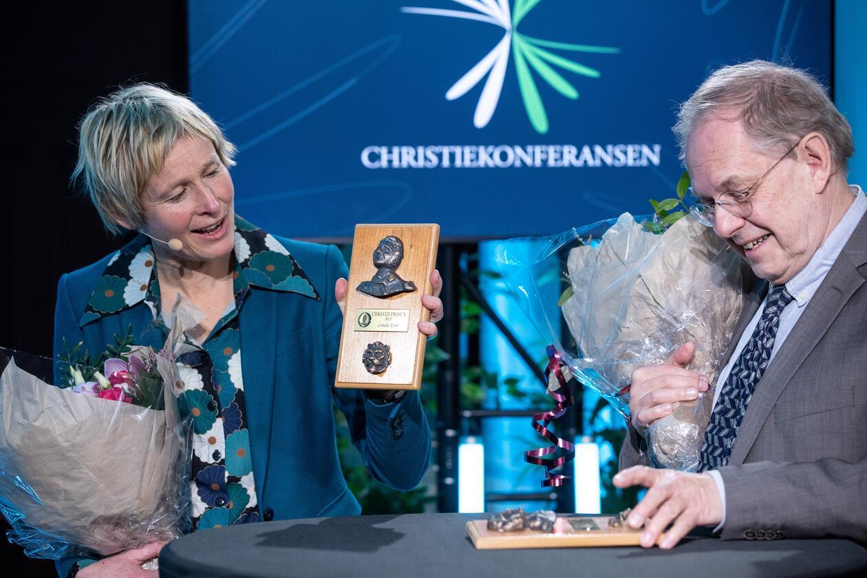 takketale Linda Eide og Gunnstein Akselberg Christieprisen 2