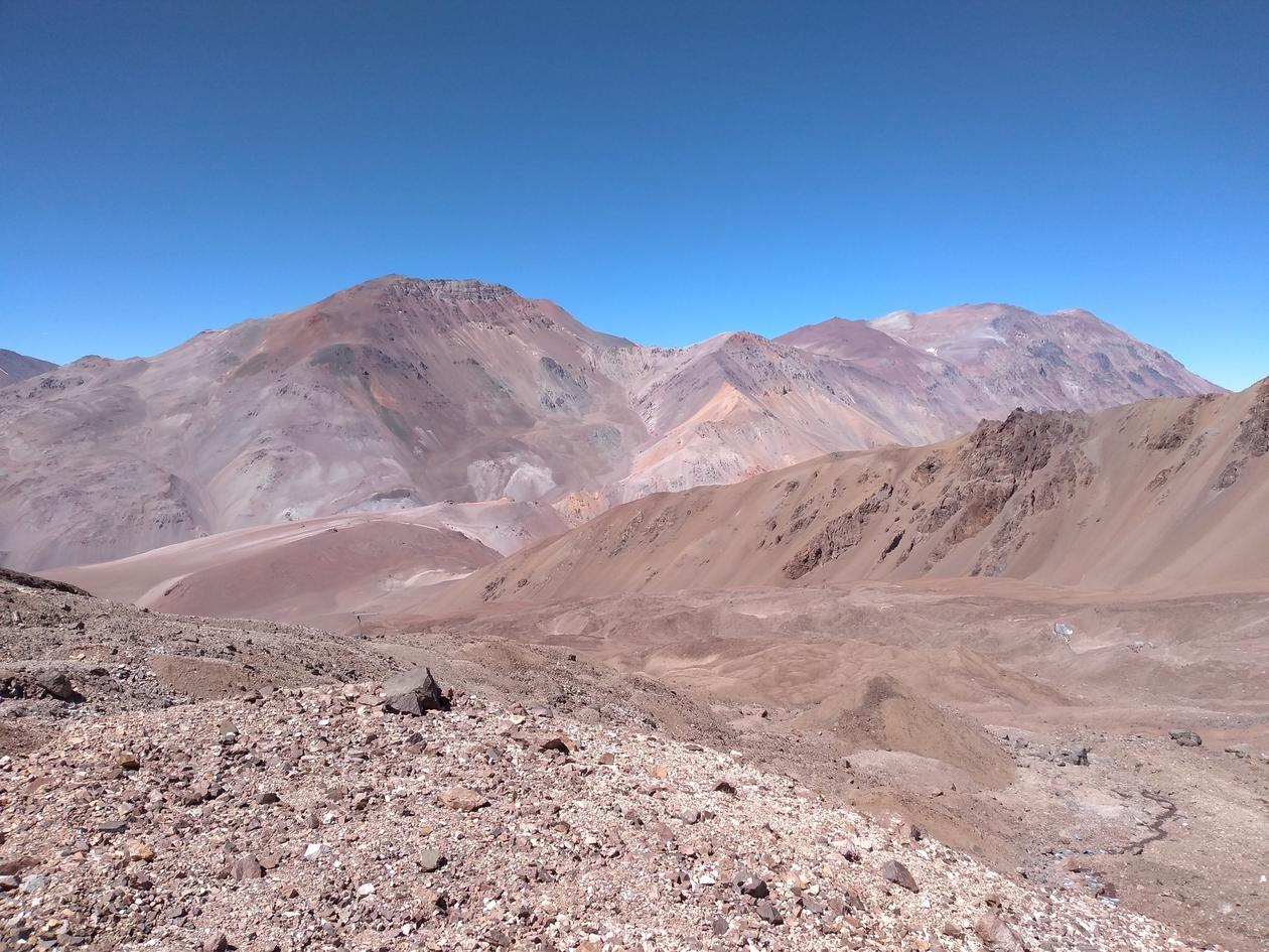 Topado Glacier in the dry Andes.