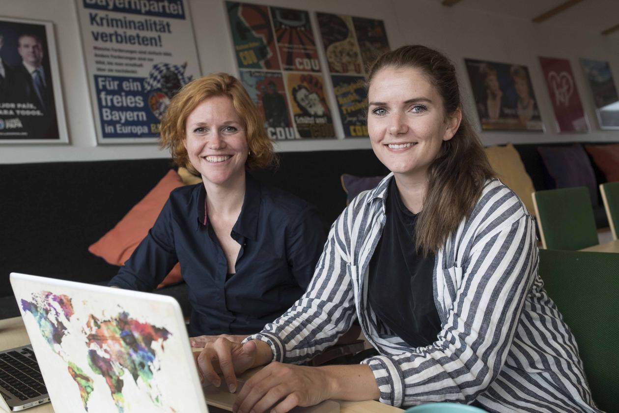 Yvette Peters and Mari Helliesen