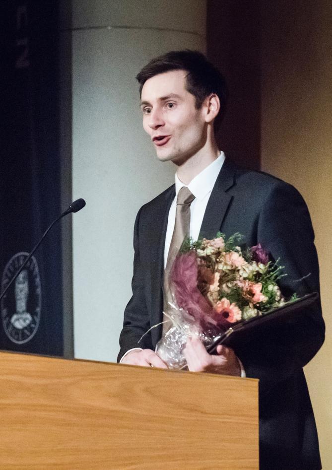 Prisvinner Ole Hjortland