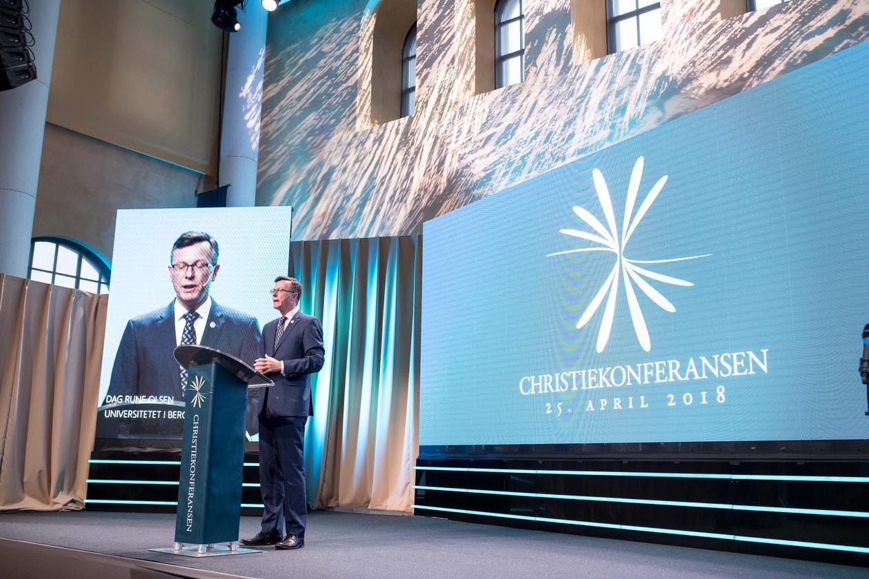 Rektor Dag Rune Olsen opnar Christiekonferansen 2018