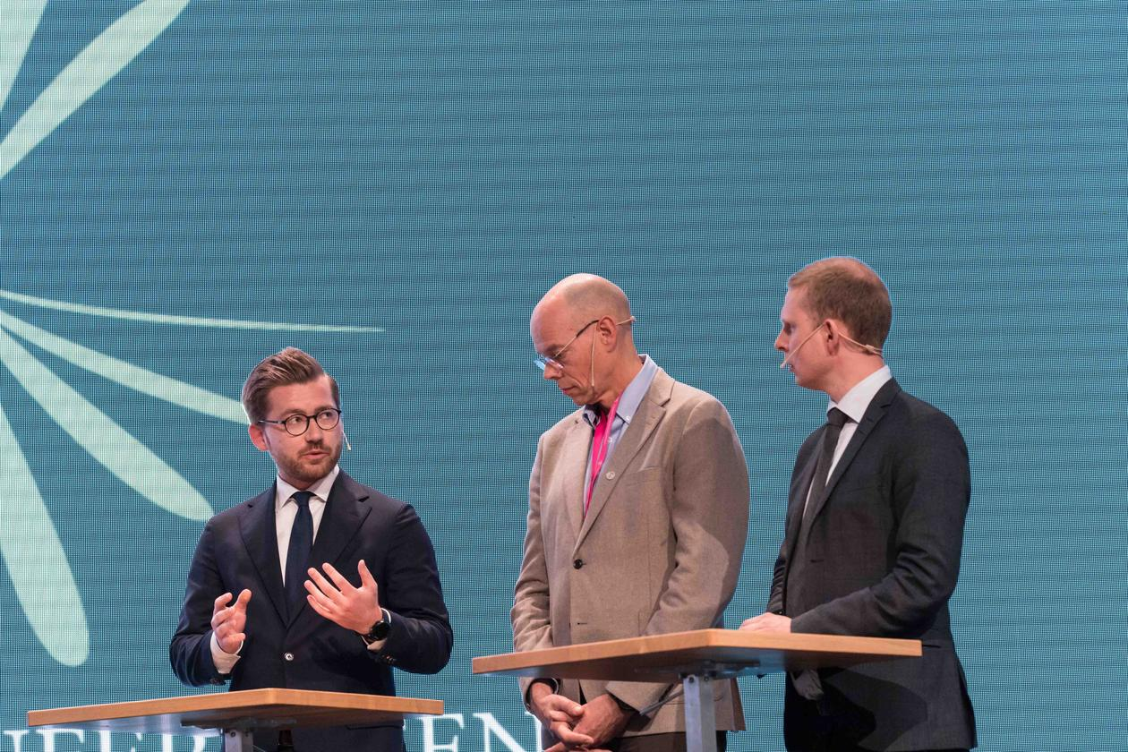 Sveinung Rotevatn, Edvin Schei og Erik Lunde på Christiekonferansen 2018