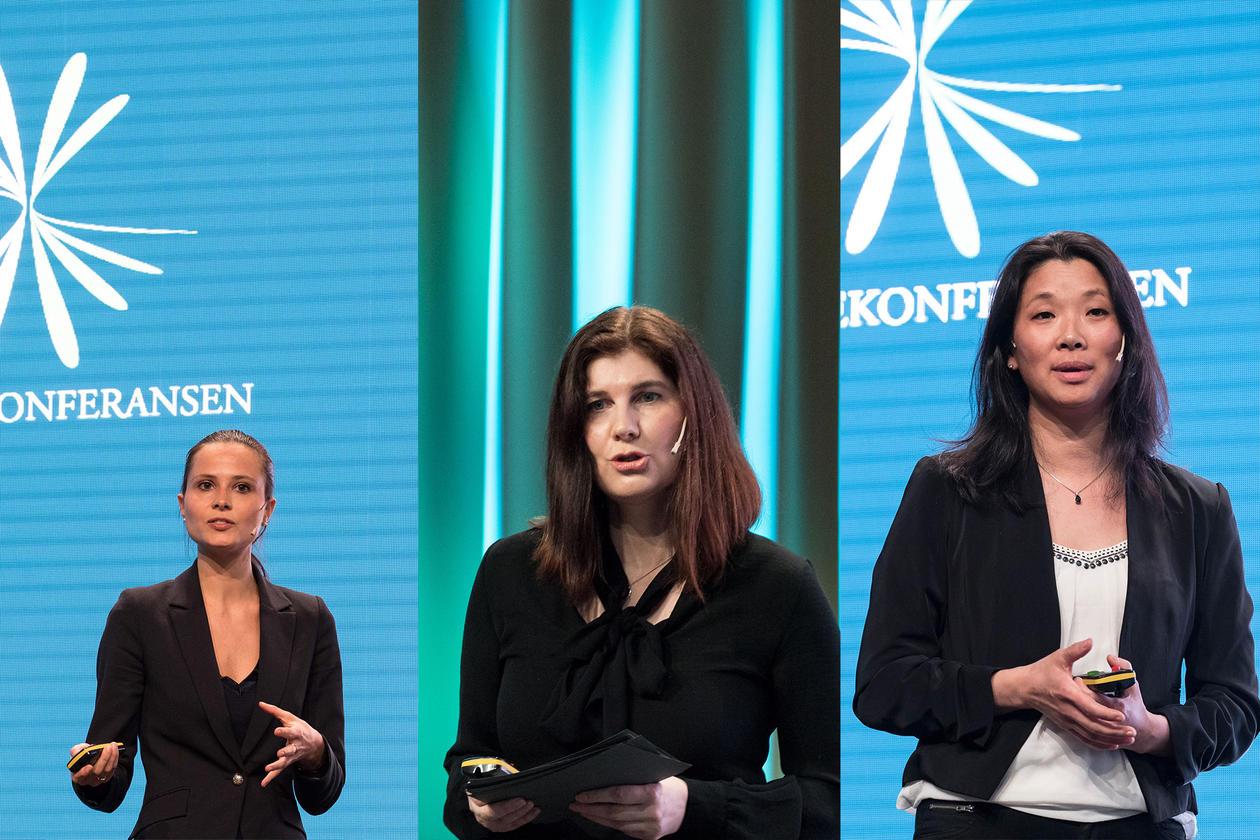 "Esmeralda Colombo, Kari Hagatun, og Gyrid Haugland representerte ""Forskning i front"" på Christiekonferansen"