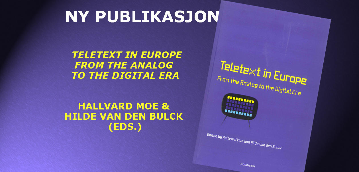 Ny publikasjon - Teletext in Europe
