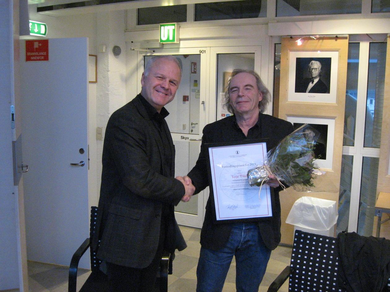 Terje Tvedt får SV-fakultetets formidlingspris 2015