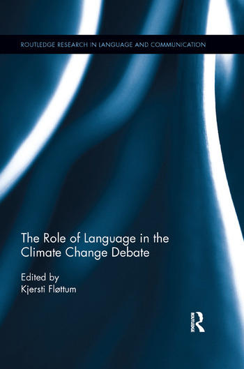 """Omslag av boken """"The Role of Language in the Climate Change Debate"""""""
