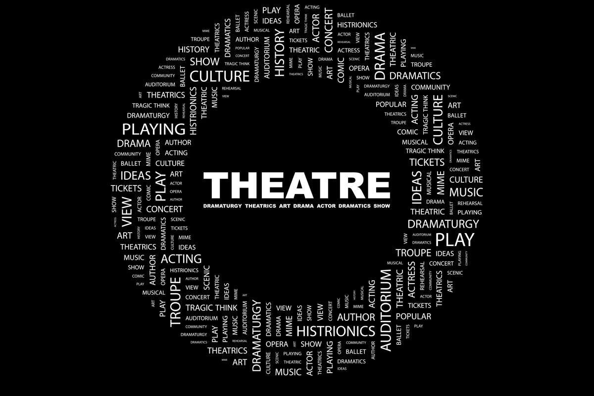 Theatre word cloud
