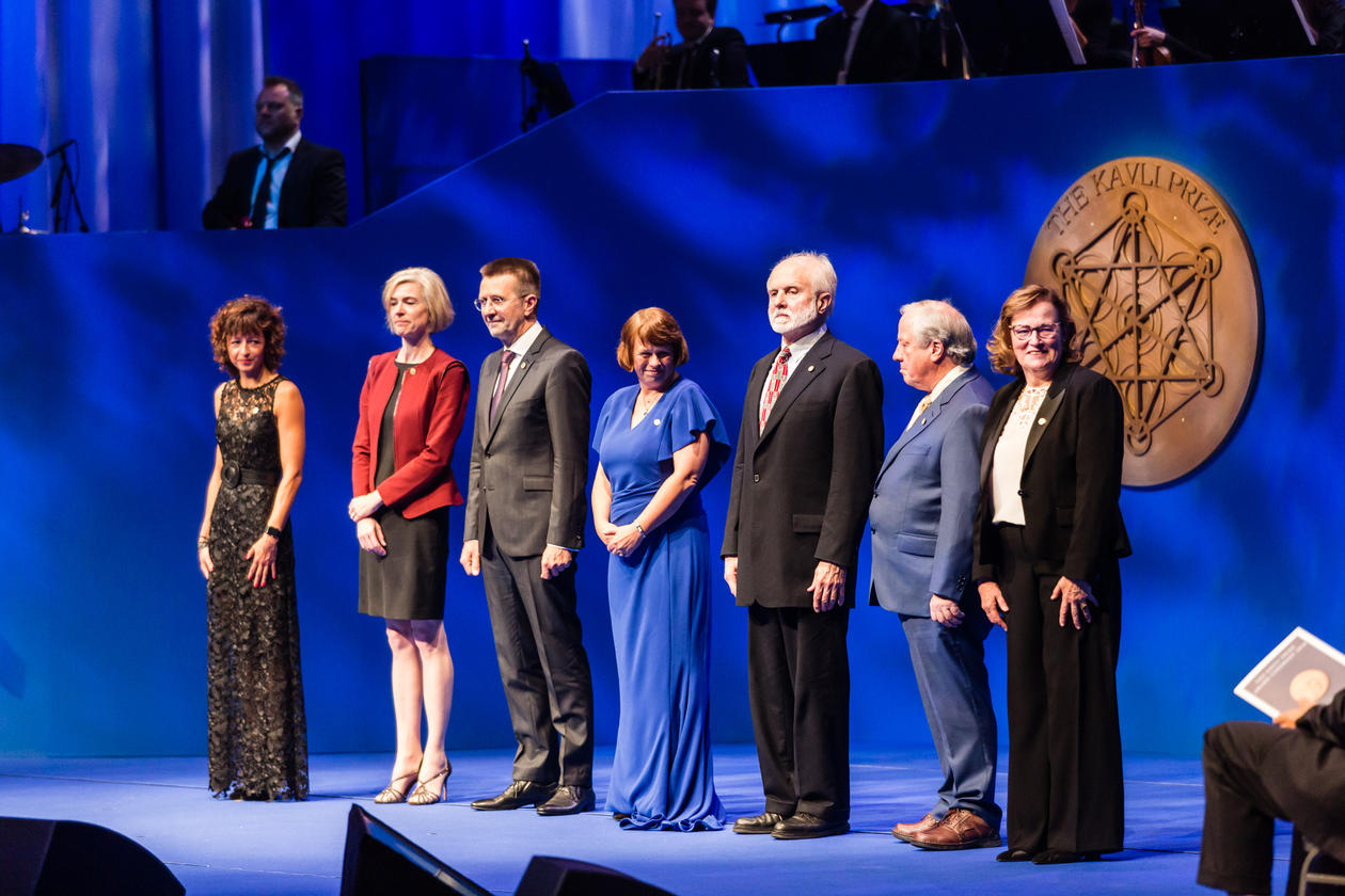 The winners of the Kavli Prize 2018 at the award ceremony