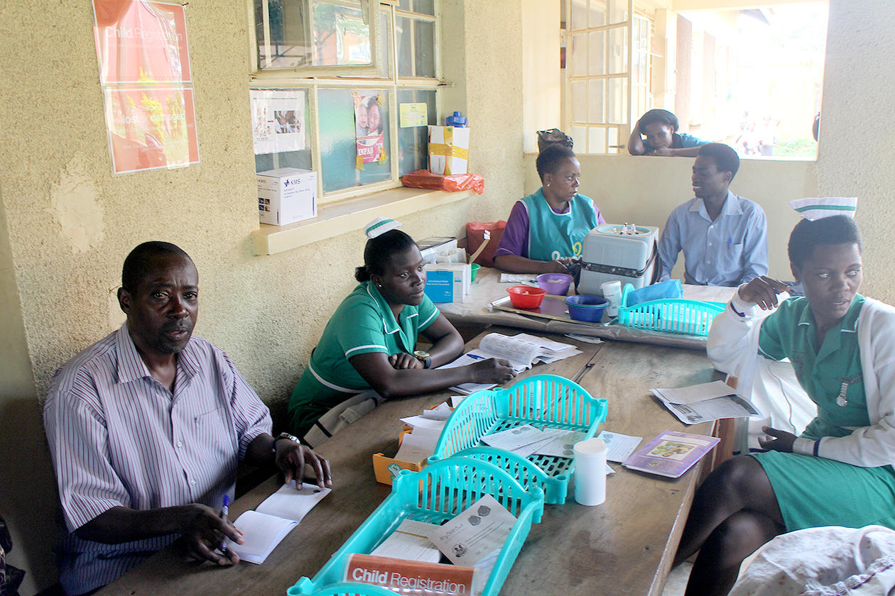 Medical staff in Uganda