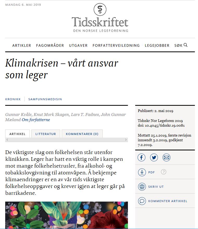 screen shot Tidsskriftet