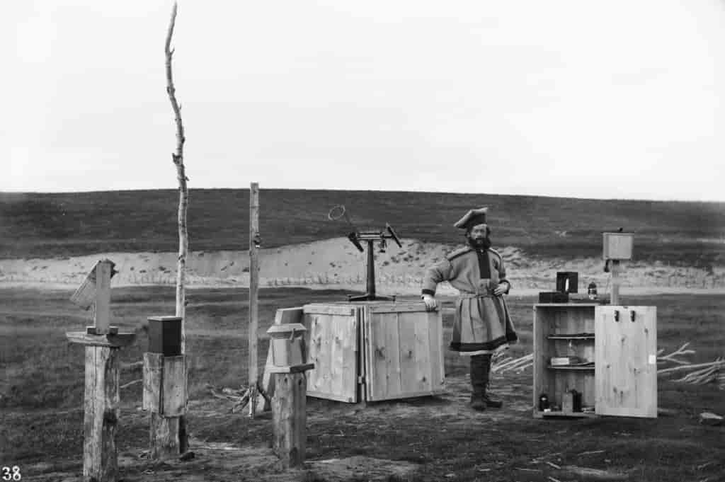 Photography of research station in Kautokeino (Sophus Tromholt 1882/83)