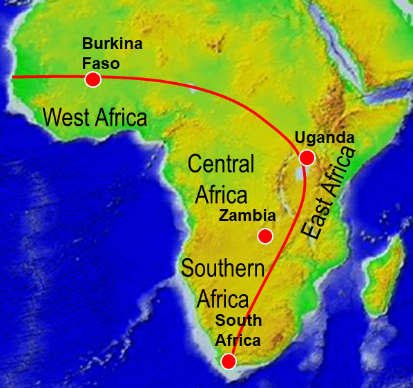 Tylleskår research sites in Africa