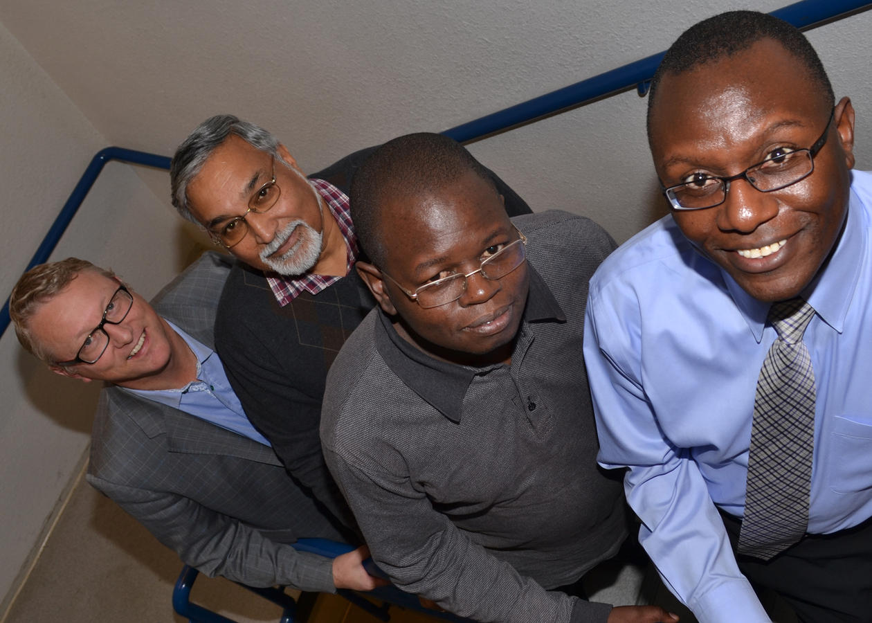 Four researchers from the global health programme HI-TRAIN gathered for their inaugural meeting at University of Bergen.