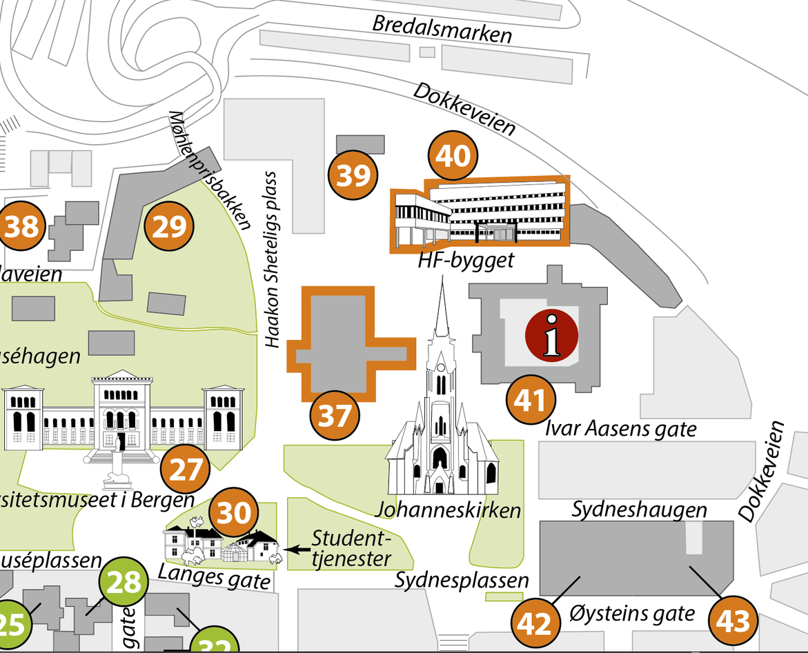 Kart over skrivesenteret.