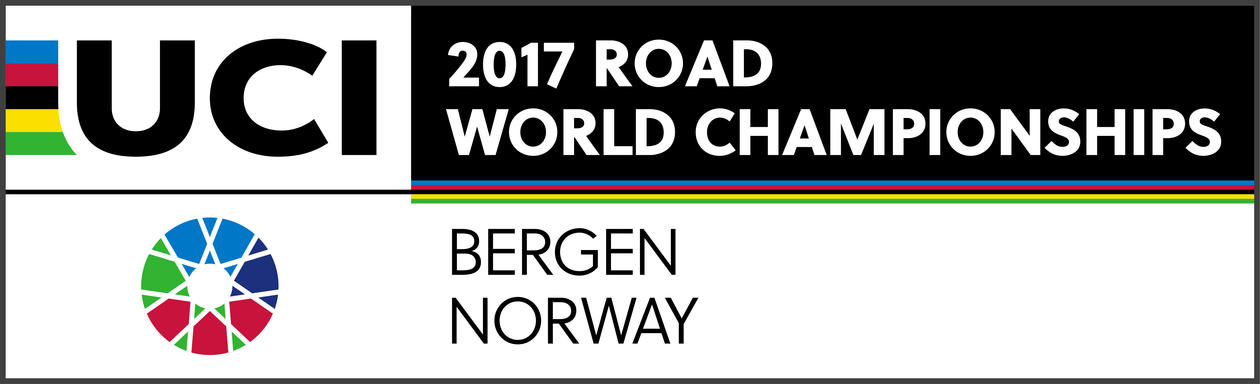 Logo for sykkel VM med teksten 2017 Road world championships