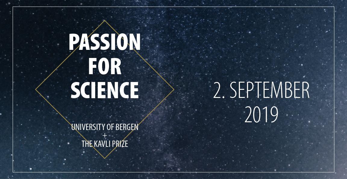 Plakat for Passion for Science med dato 2. september