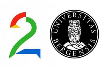 UiB og TV2s logoer