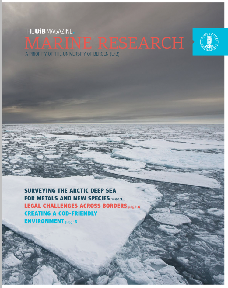 UiB Magazine Special Issue on Marine Research frontpage