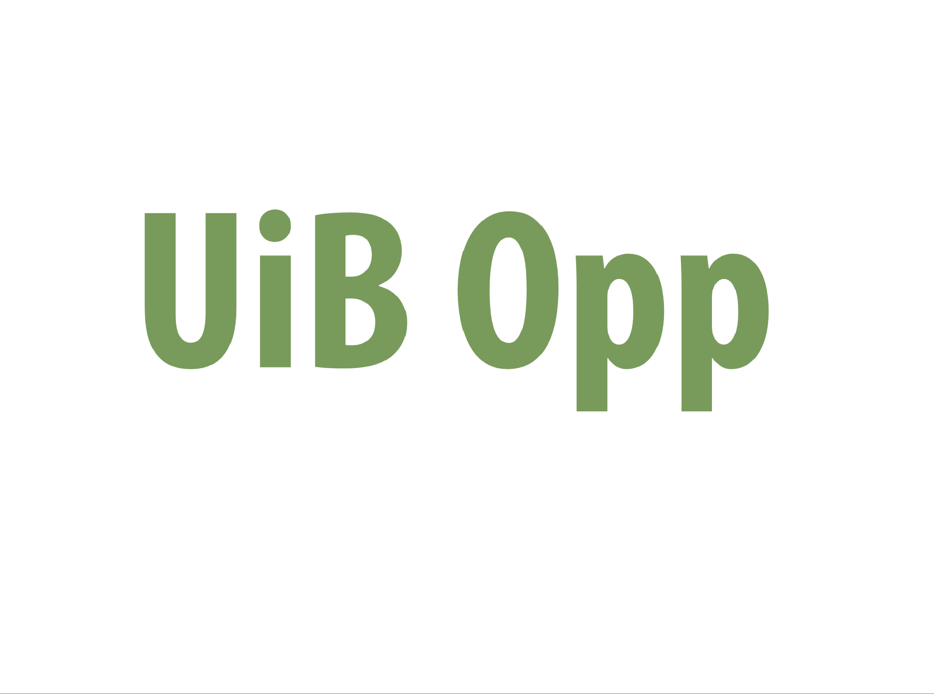 UiB opp logo