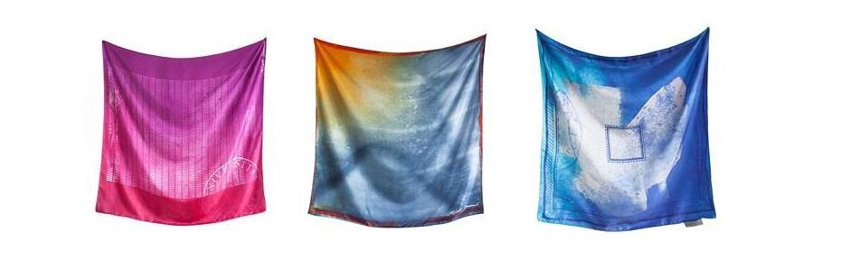 tre ulike sjal