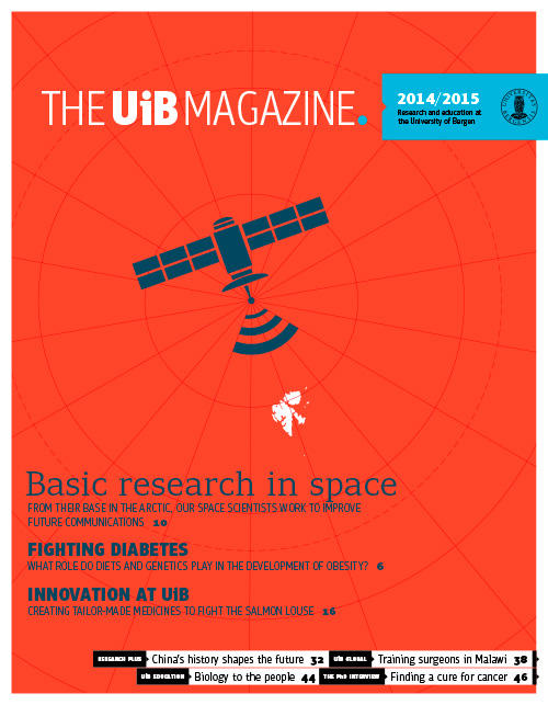 Front page of the UiB Magazine 2014/2015