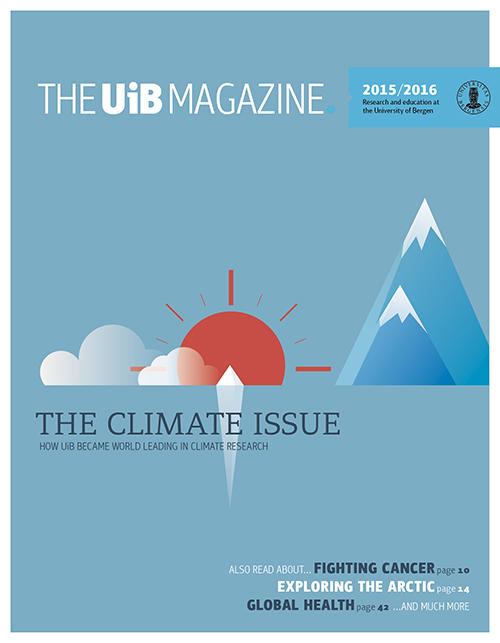 Cover of UiB Magazine