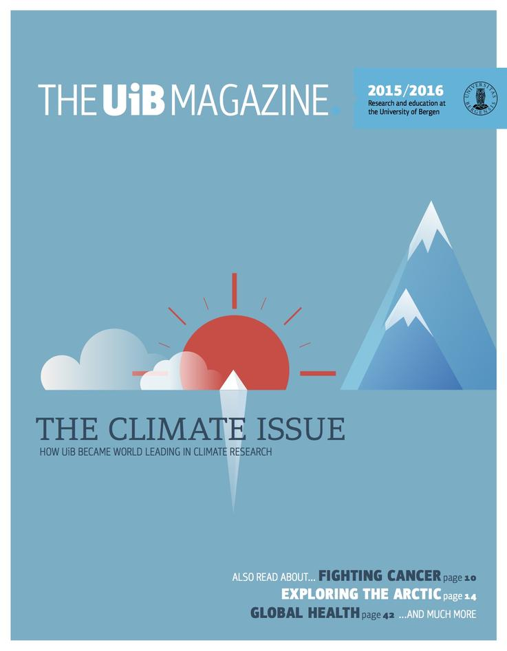 The front page of the The UiB Magazine 2015/2016, from the University of Bergen