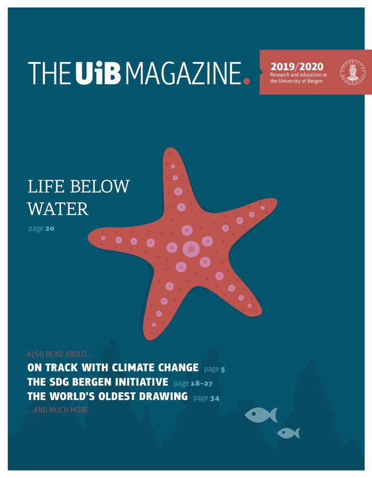 Front page of the UiB Magazine 2019/2020.