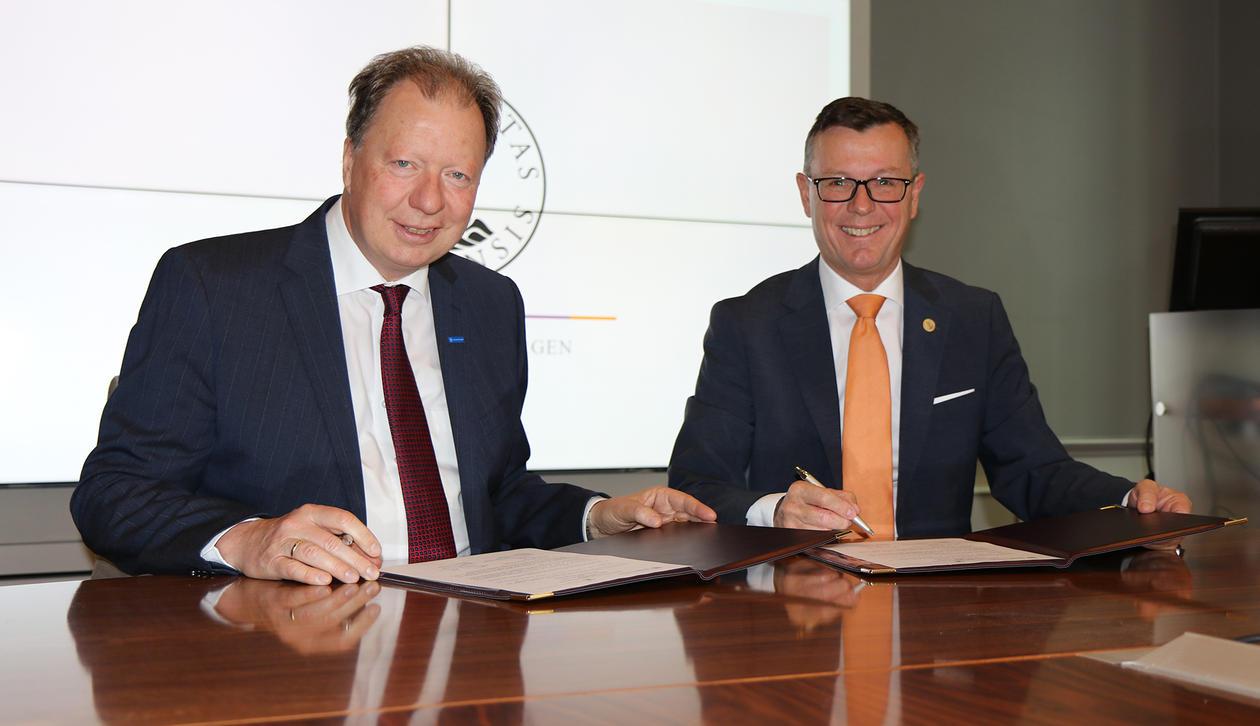 Rektorene ved Stuttgart og UiB