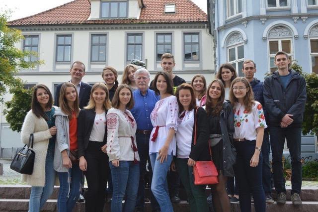 Group of ukrainian students