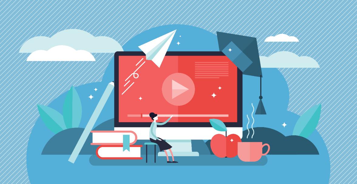 Illustrasjon digital undervisning