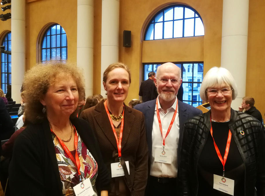 UNESCO Chairs Thoresen, Måren, Price and Head of the Norwegian UNESCO Comission Åsland at the SDG Bergen Conference in 2018