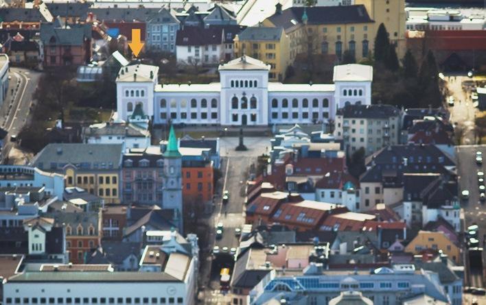 Universitetsaulaen ligger i sørfløyen av Naturhistorisk museum