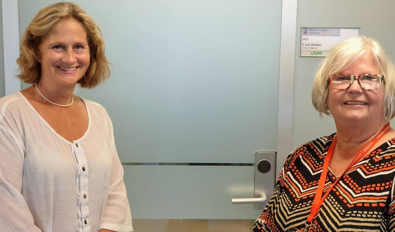 Ragnhild Dybdahl og Unni M. Heltne
