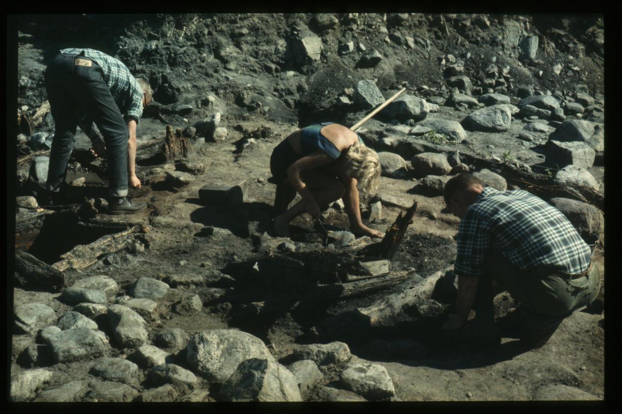 Utgravning på Borgund 1961