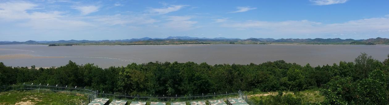 Utsikt over Nord-Korea fra Gangwhado.