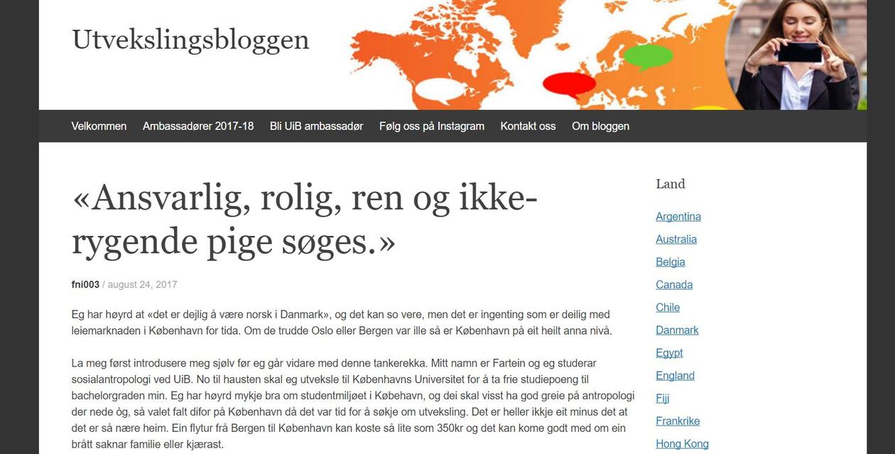 Utvekslingsbloggen utstnitt