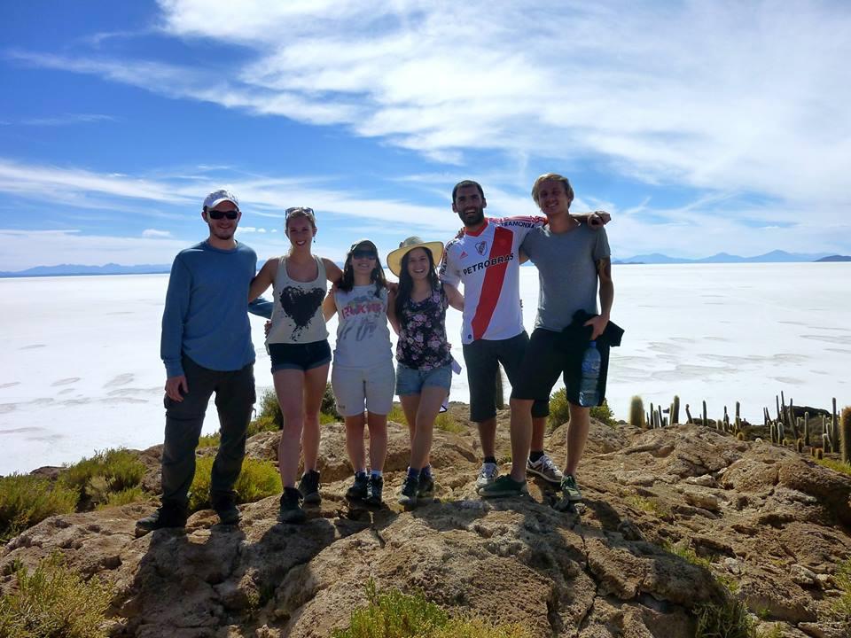 Fra Salar de Uyuni, en saltørken i Bolivia.