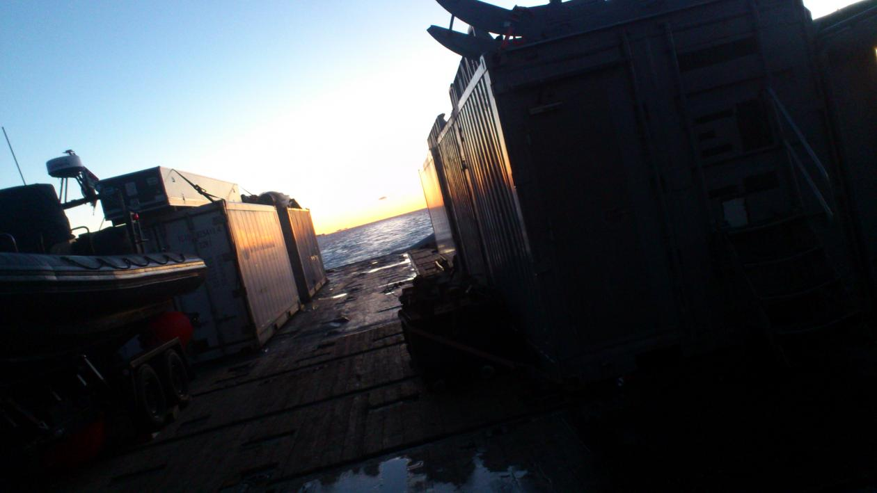 Deler av fartøyet KNM Valkyrien.