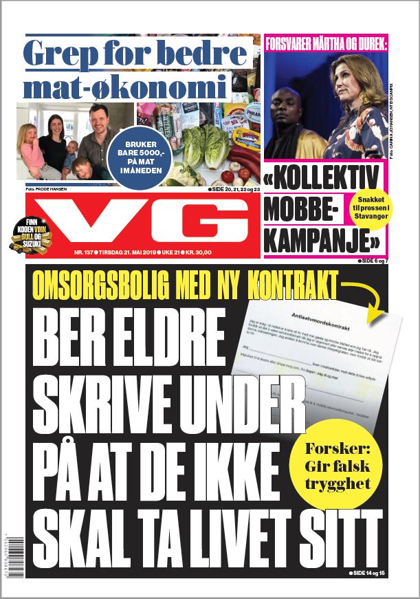 VG-forside 21. mai