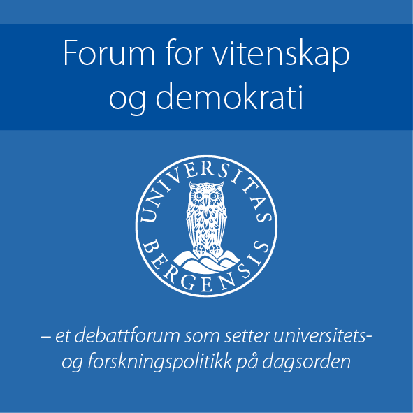 Logo for Forum for vitenskap og demokrati