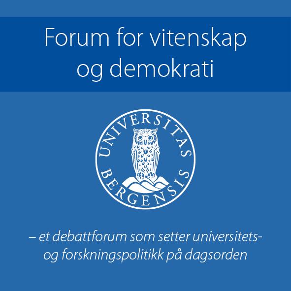Logo for Forum for vitenskap og demokrati