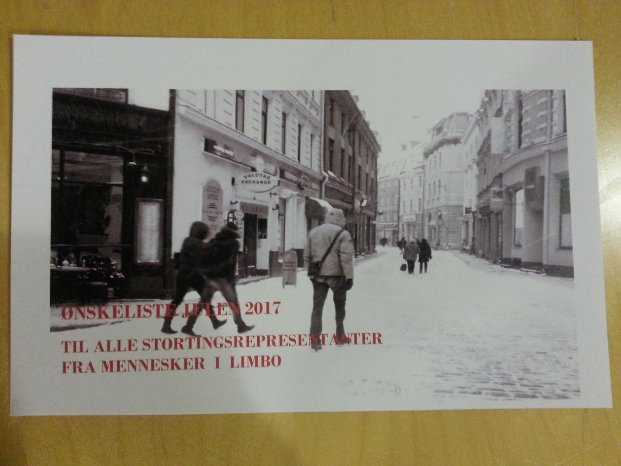 """Christmas card from """"People in Limbo"""""""